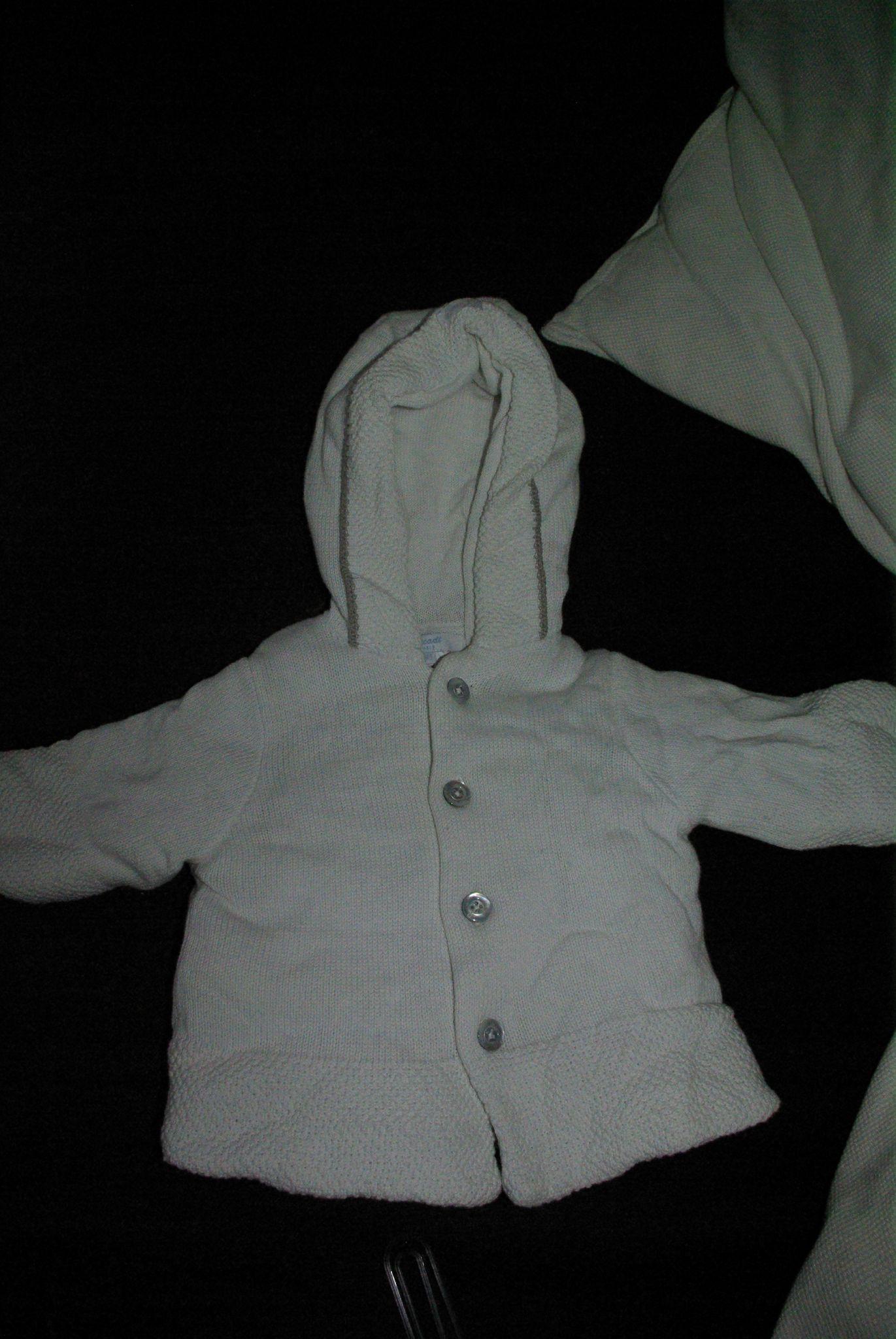Burnous blanc Jacadi 3 mois 10 E