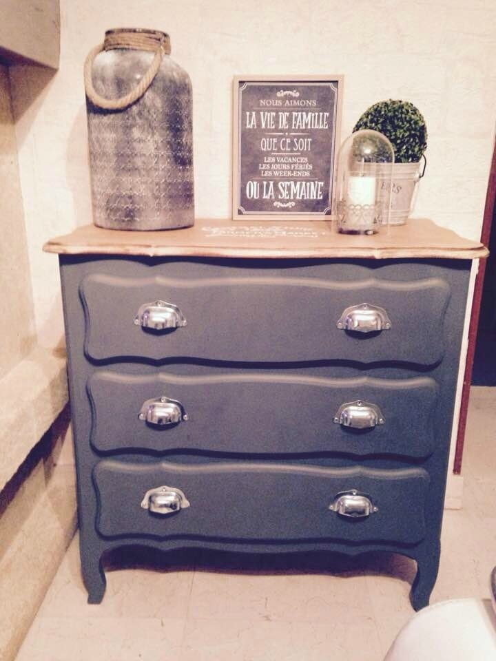 commode et coussin relooking