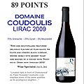 Lirac rouge 2009 wine spectator 89 pts