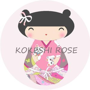 propo kokeshi fd rose clair magnet