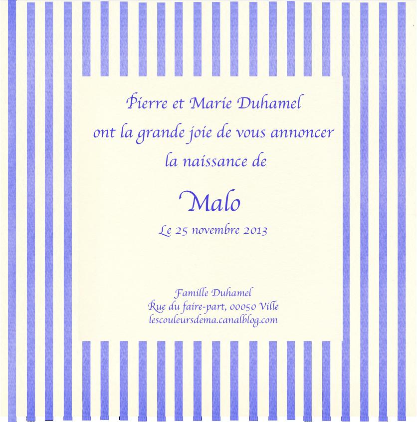 FP rayures verticales bleu blanc fond blanc modèle Malo