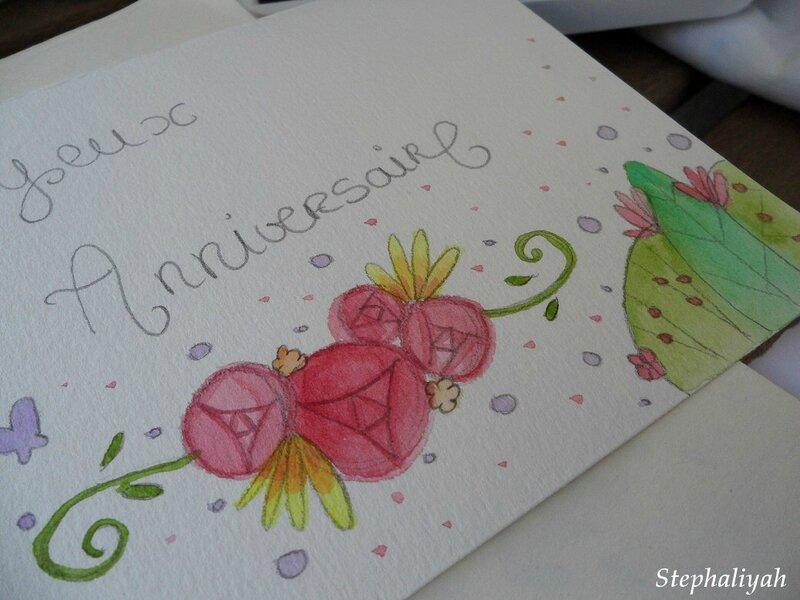 Cartes aquarelle pour annifs - 4
