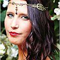 Headband, tour de tête, couronne, accessoire cheveux à l'esprit médiéval perlaminette