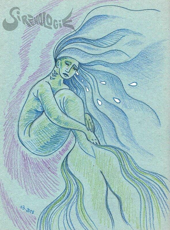 Sirène en larmes