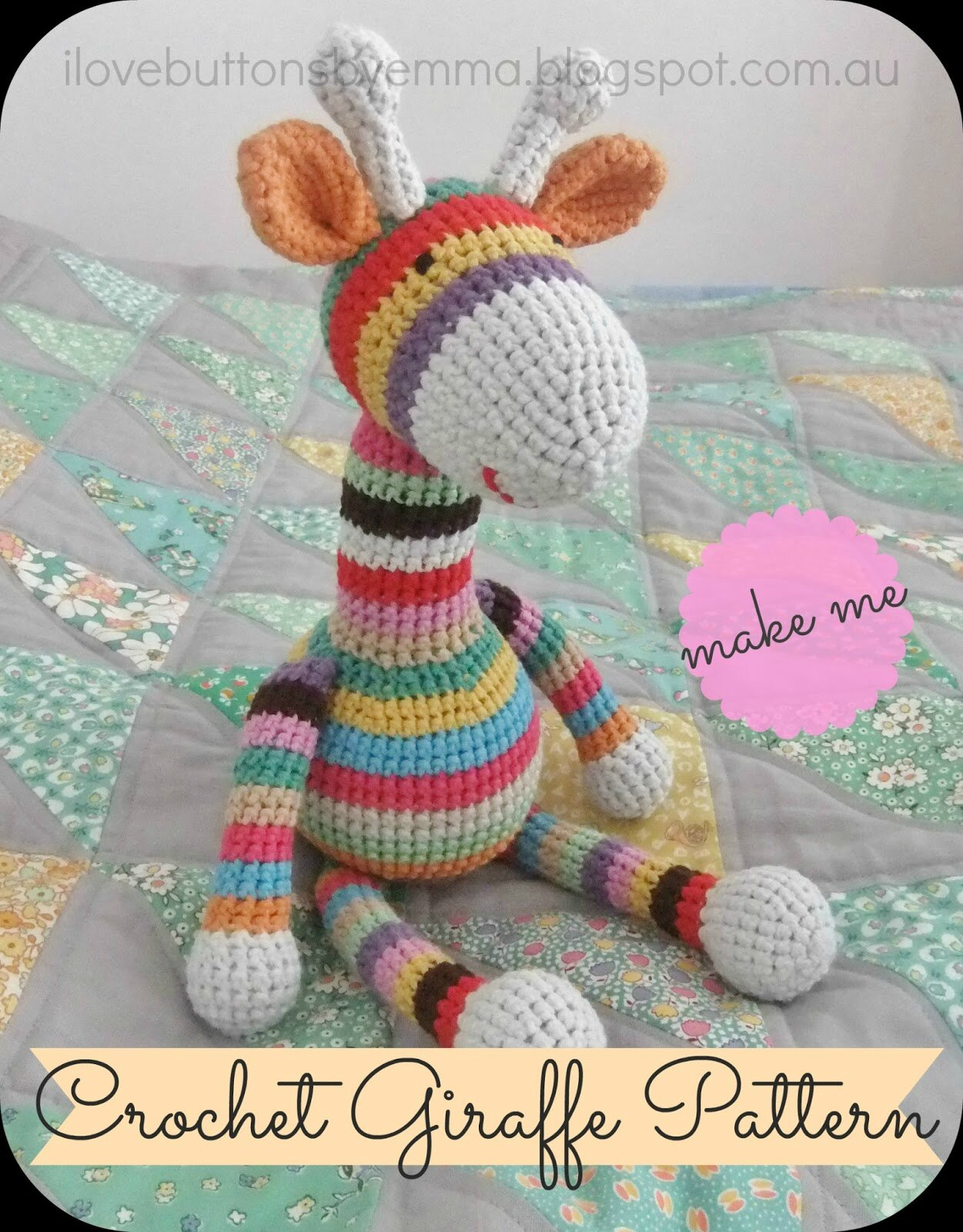 tuto amigurumi girafe tout sur le crochet et les. Black Bedroom Furniture Sets. Home Design Ideas