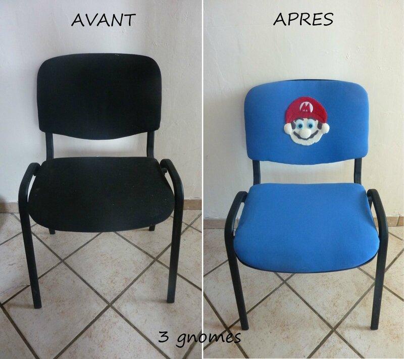 avant-après chaise mario
