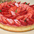 Tarte aux fraises version hugo et victor