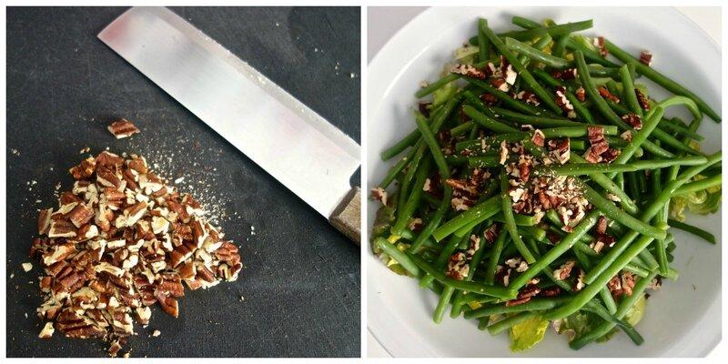 noix de pécan pour salade de haricots verts