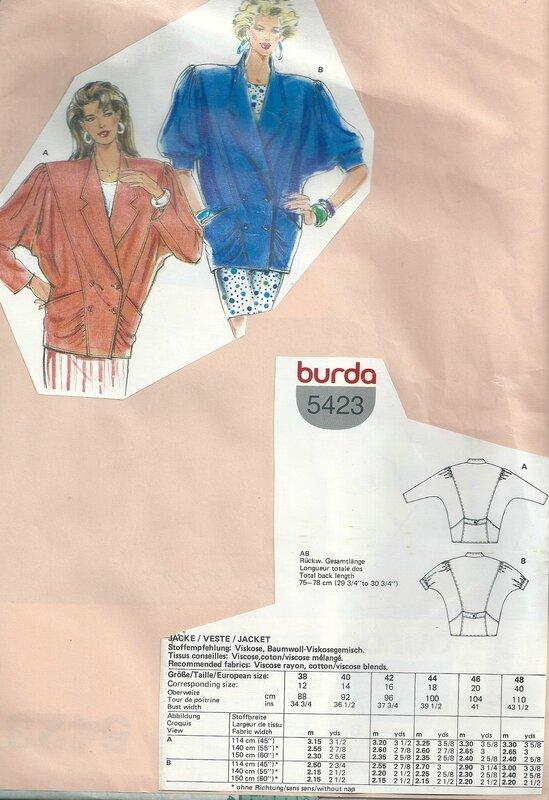 burda 5423 (non coupé)