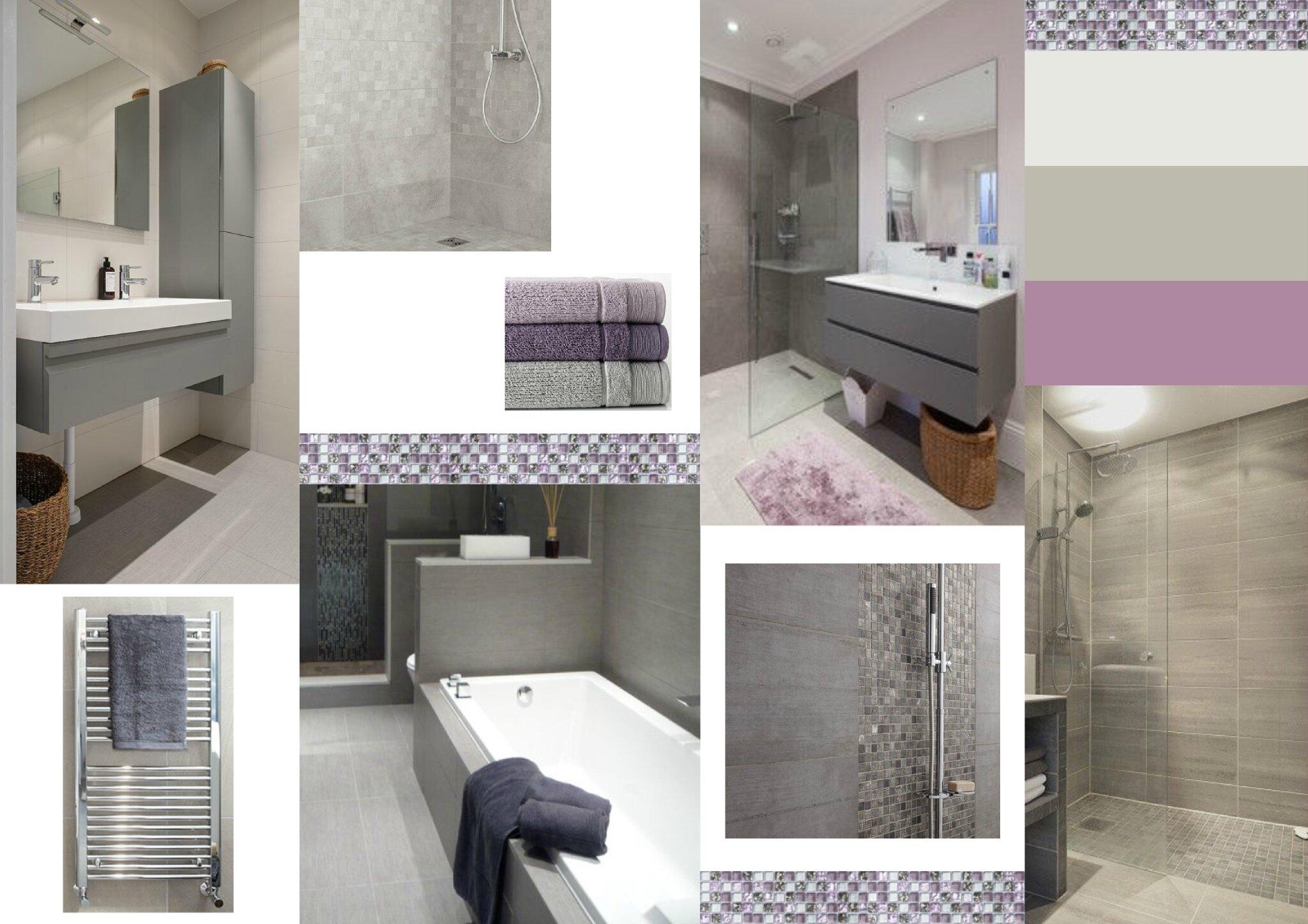 projet client une salle de bain en nuances de gris sonia