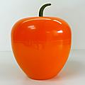 Vintage ... pomme à glaçons orange * avec queue