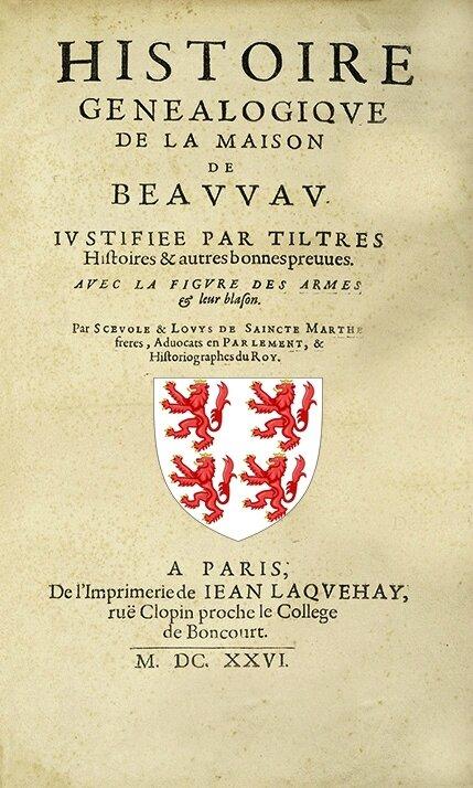 de Beauvau Sainte-Marthe (Scévole et Louis de)