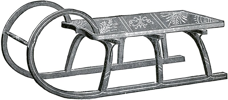Antique-Sled-Images-GraphicsFairy