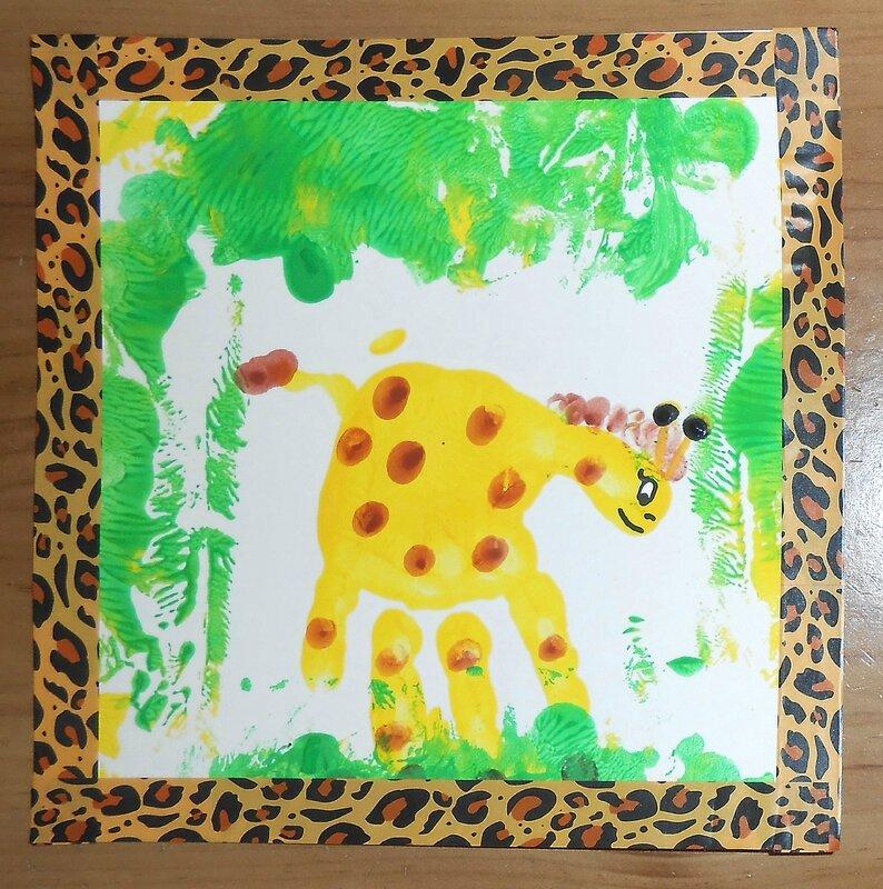 Girafe Empreinte De Main La Maison F Erique