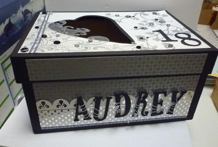Pour ses 18 ans le blog des ateliers de mimi pacy - Decorer boite carton pour anniversaire ...
