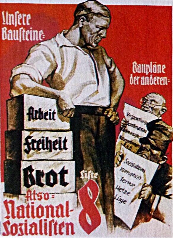 1930-affiche electorale du parti National Socialiste