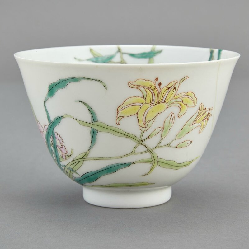 Chinese Famille Rose Glazed Porcelain Cup, Yongzheng Mark and of the Period2
