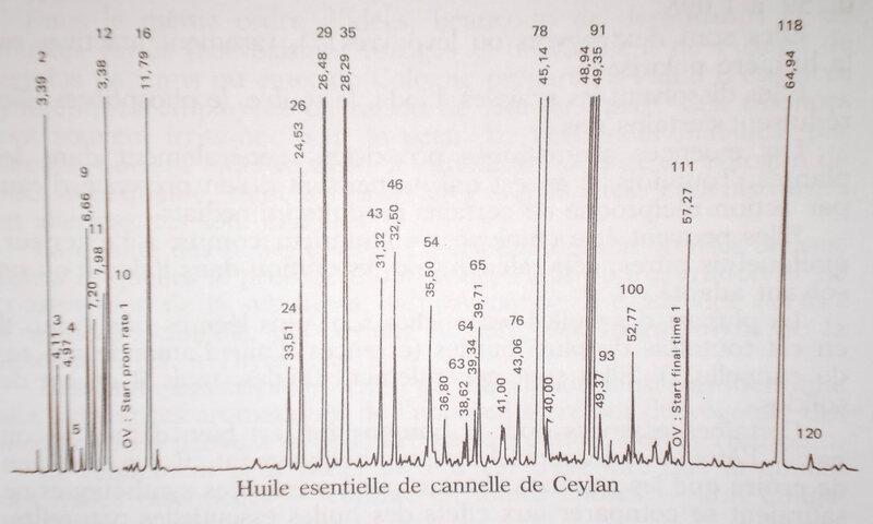 Chromatographie de l'huile essentielle de cannelle de Ceylan