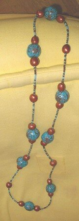 Sautoir_fleurs_bronze_turquoise