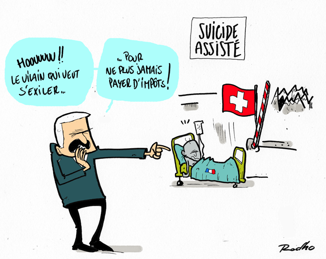 suicide assist autoris en suisse rodho dessin de presse illustration. Black Bedroom Furniture Sets. Home Design Ideas