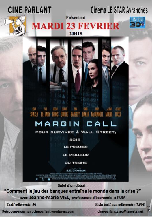film Margin Call ciné-débat ciné-Parlant Avranches 2016
