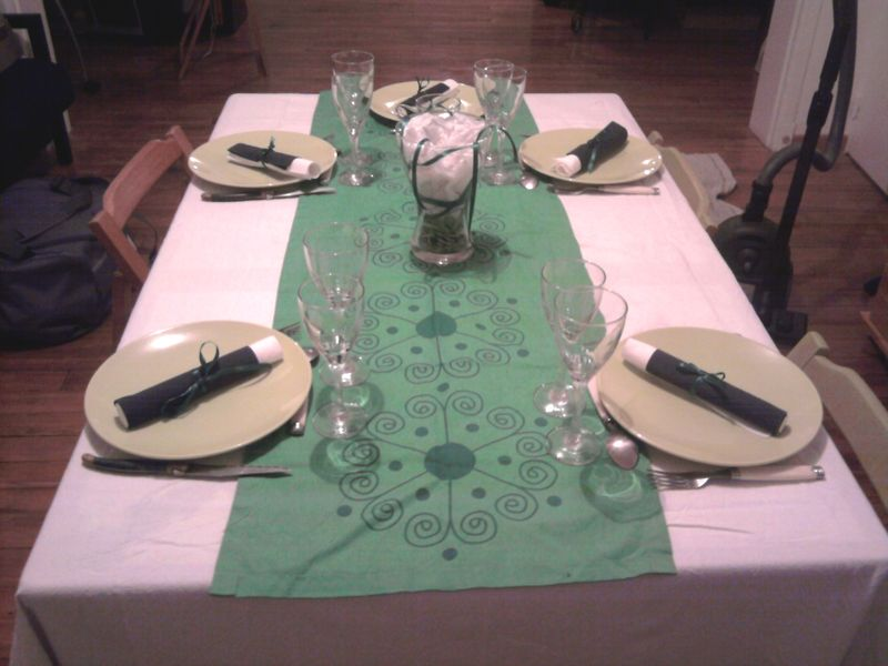 D coration de table du r veillon de la saint sylvestre - Table reveillon saint sylvestre ...