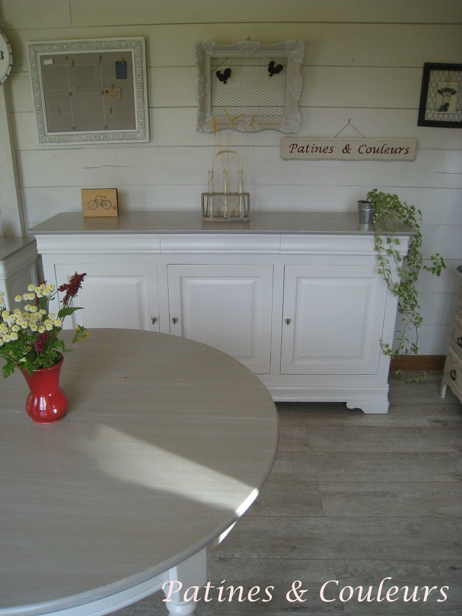 Une salle à manger en merisier relookée