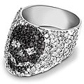 Theo Fennell white gold, black diamond and diamond Skull Rin