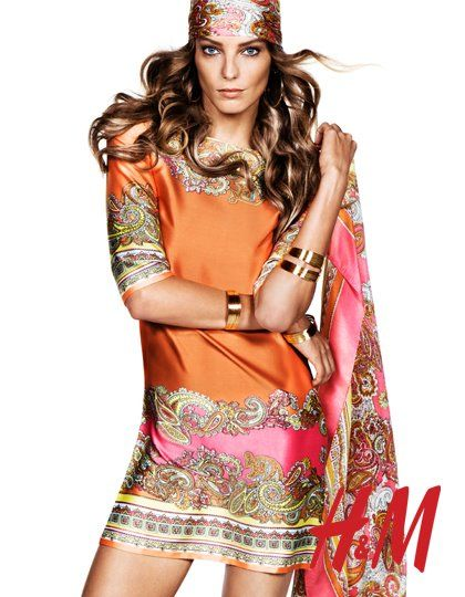 Robe imprime foulard h&m