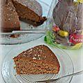 Gâteau aux chocolats de pâques et noix de coco