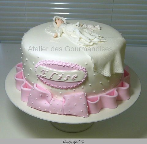 Deco gateau de bapteme - Decoration gateau bapteme fille ...