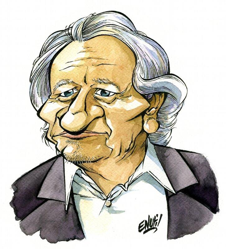 Neil Arestrup Caricature