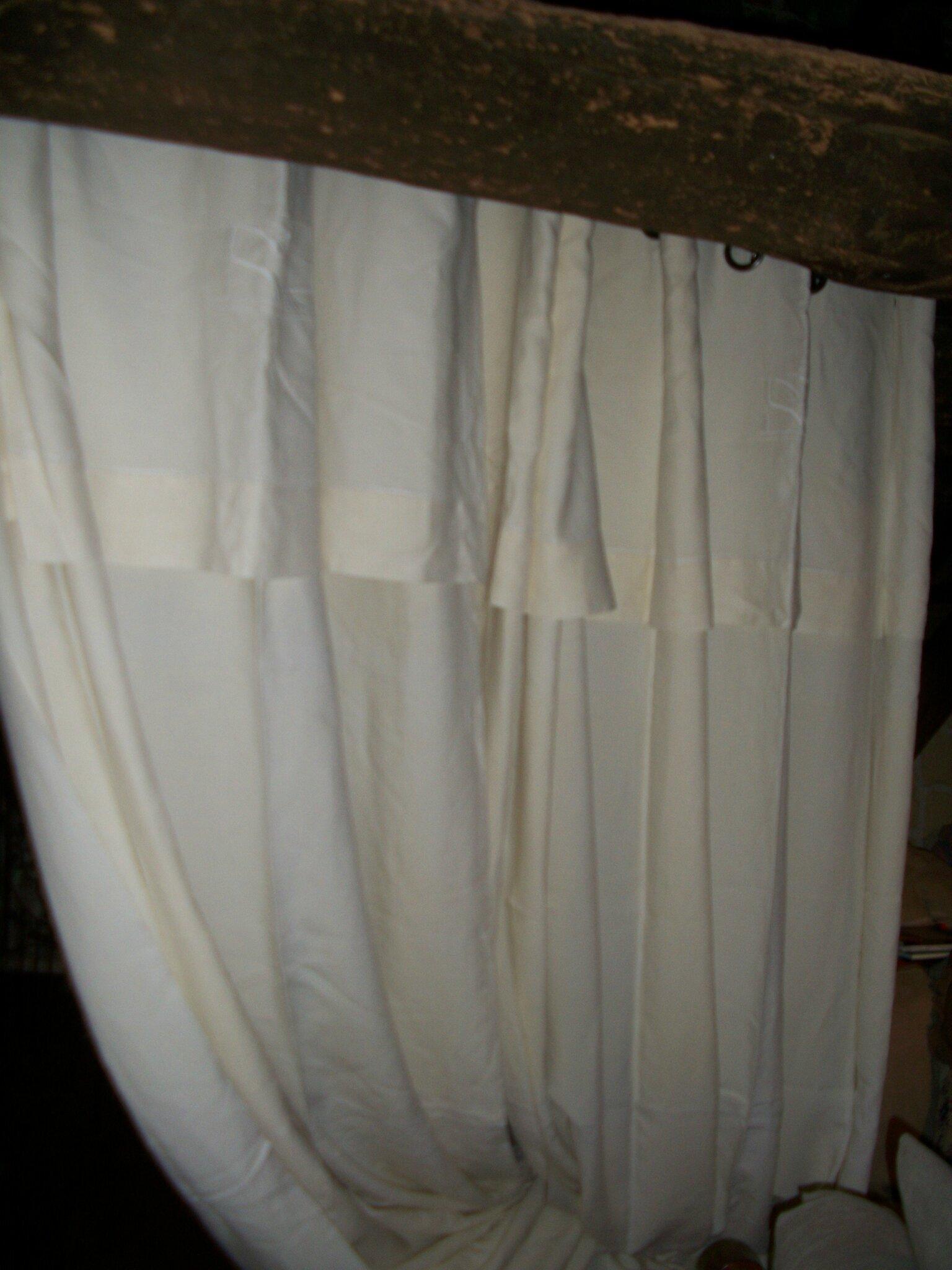 Et encore des rideaux en linge ancien grain de folie - Double rideaux en lin ...