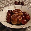 Paupiettes de veau aux raisins frais, citron et thym