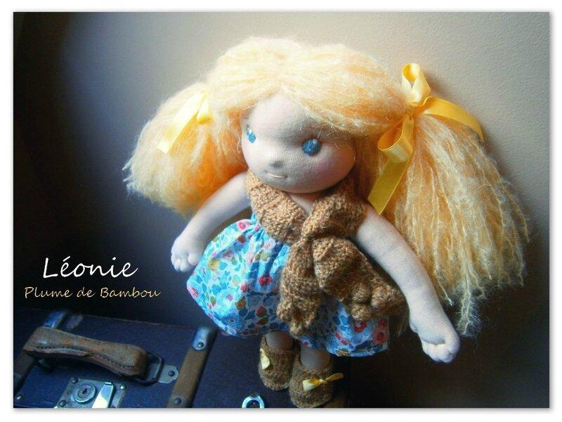 Léonie, poupée Waldorf Jolie Plume