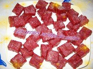 Pâte de fruits à la framboise