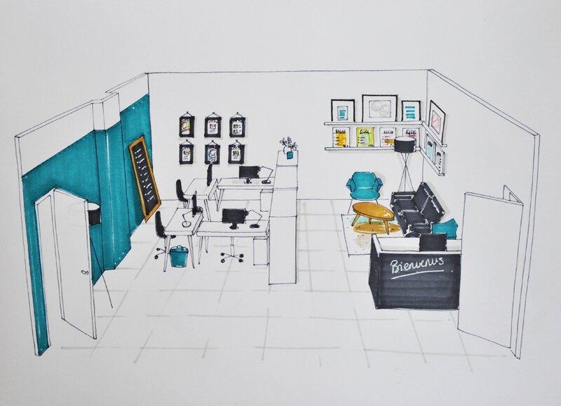 bureau et accueil