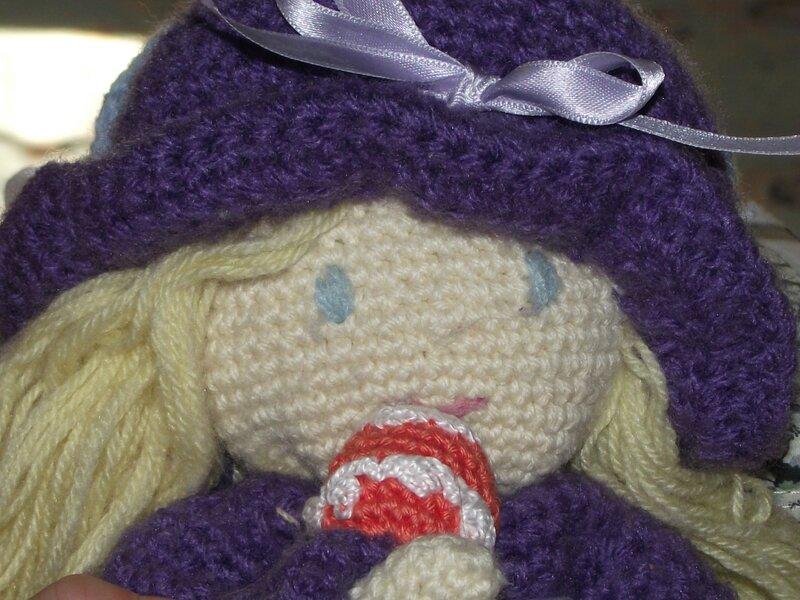 cupcake poupée au crochet coton fifty 10