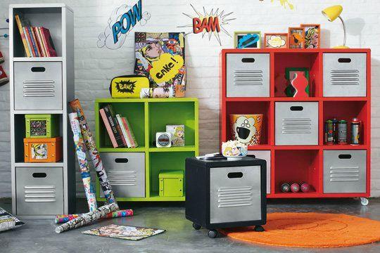 chambre pour adolescents 3 les rangements aux petites canailles. Black Bedroom Furniture Sets. Home Design Ideas