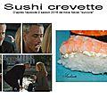 Sushi crevette dans alice never