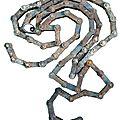 Chaine de vélo - Composition artistique - Création recyclage déchets métallique - récupération poubelle