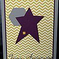 33. greige, jaune et violet - chevrons, hexagone et étoile