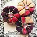 ♥ acaste ♥ broche textile hippie chic fleurs potirons - les yoyos de calie