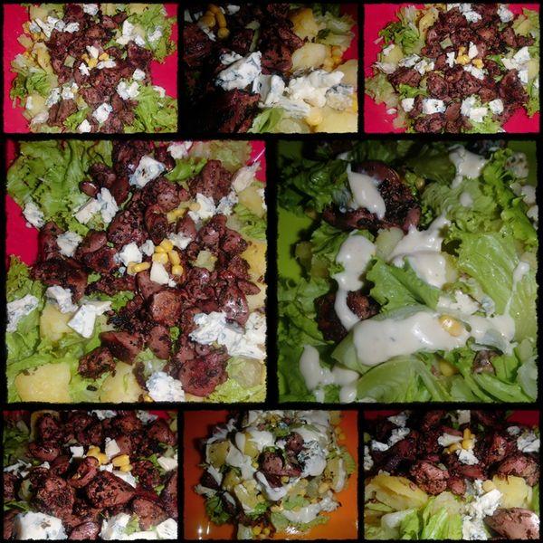 page salade foie de volaille