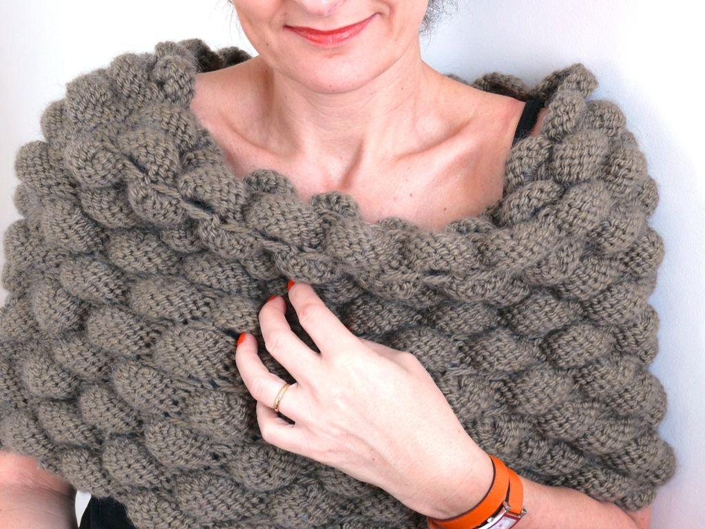 Les paules bien au chaud bee made - Point fantaisie tricot phildar ...