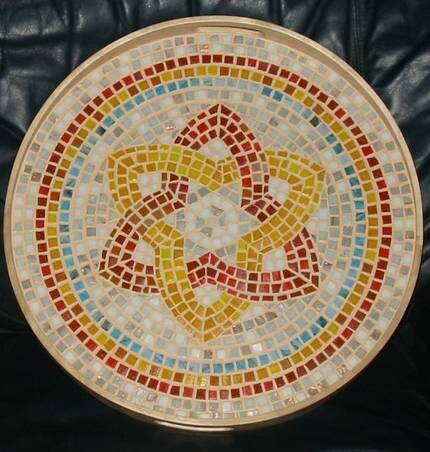 plateau mosaïque decor mandala