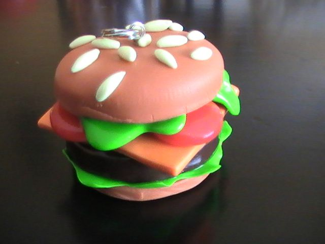 hamburger photo de nourriture de fastfood en fimo vendre cr ations en p te fimo. Black Bedroom Furniture Sets. Home Design Ideas