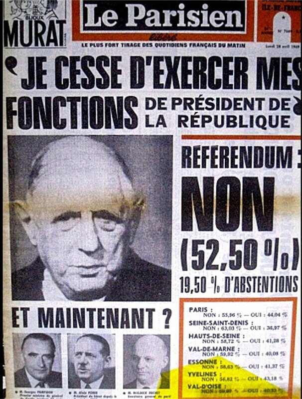 Le Parisien 28 avril 1969