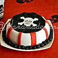 Gâteau d'anniversaire thème pirate par Sophie