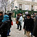 Animation touristique sur la butte Montmartre.